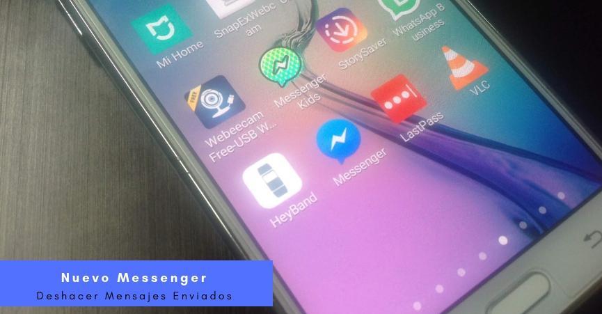 deshacer mensajes enviados en Facebook Messenger Android