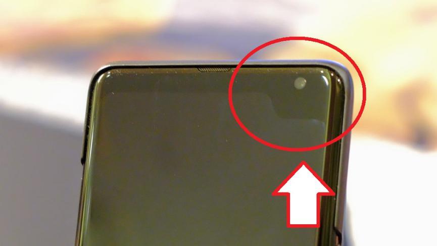 Prototipo Samsung Galaxy 5G con Muesca Superior pero, Lateral