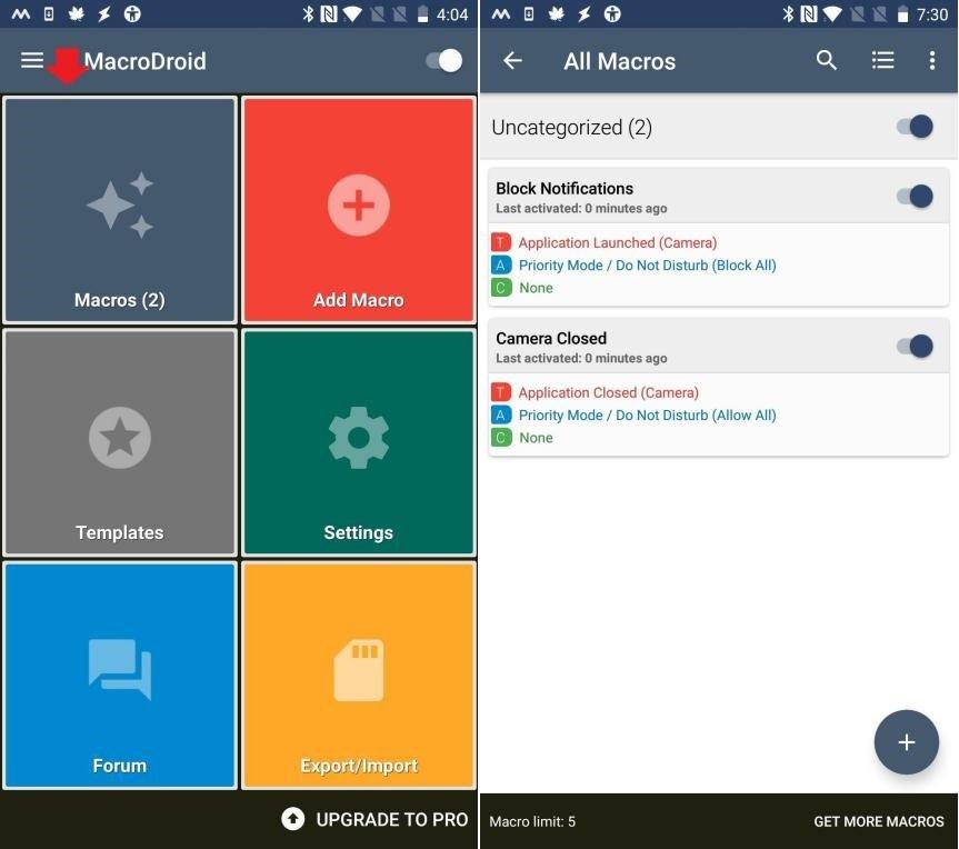 Bloquear Notificaciones Cuando la Cámara Android está Activa