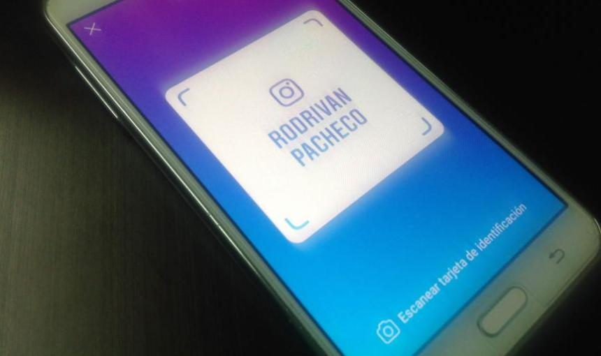 Tarjeta de ID Instagram