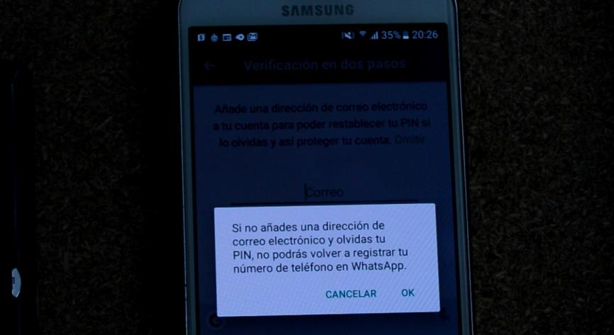 doble verificacion WhatsApp Android