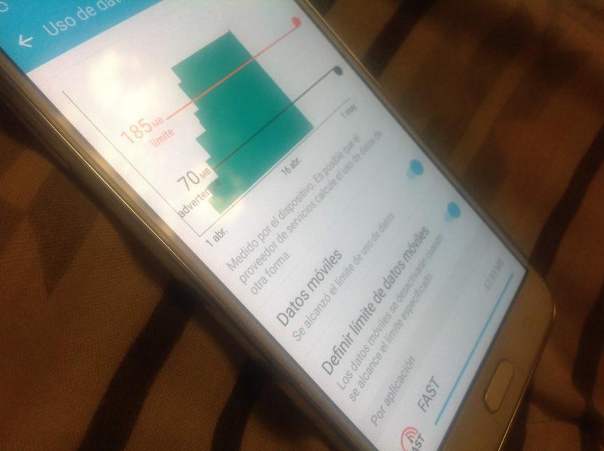 controlar megas en Android