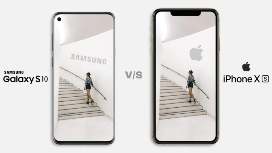 Samsung Galaxy S10 versus iphone xs