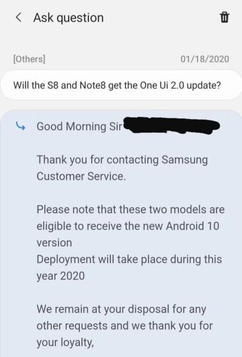 android 10 en galaxy S8