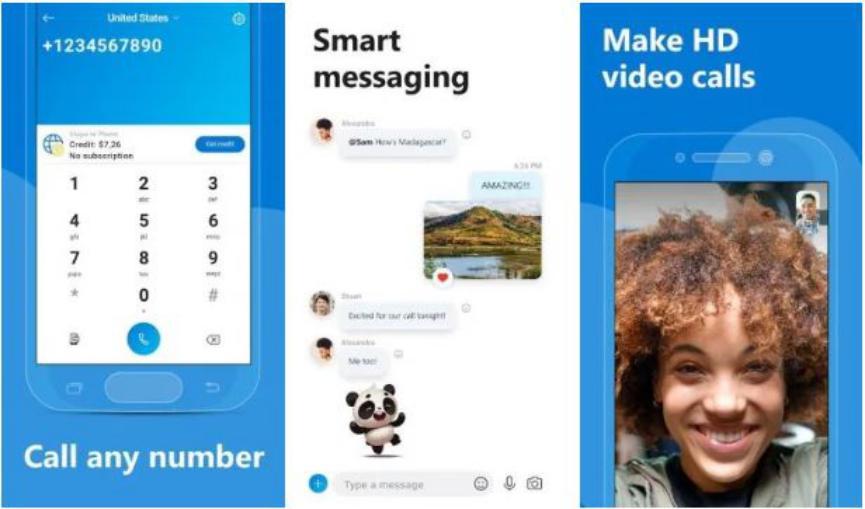 Skype para realizar videollamadas grupales gratis