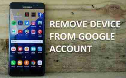 Remove Device From Google Account
