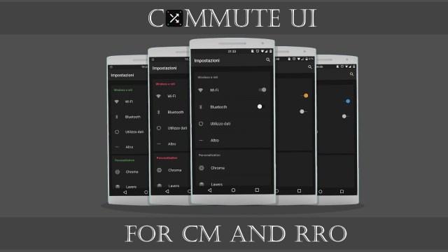 Commute UI CM12 Theme