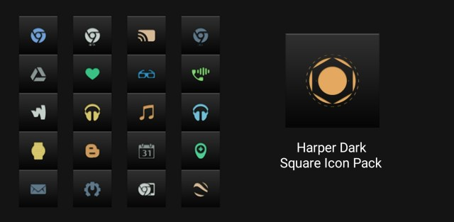 Harper Dark - Square Icon Pack
