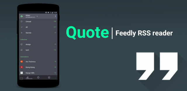 Quote  Feedly RSS reader