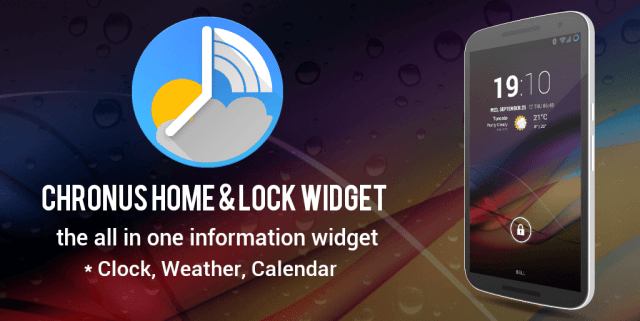 Chronus Home & Lock Widget
