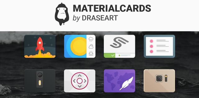 Material cards icons