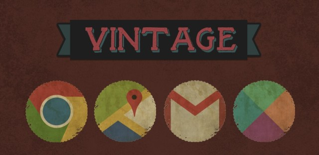 Vintage icon pack