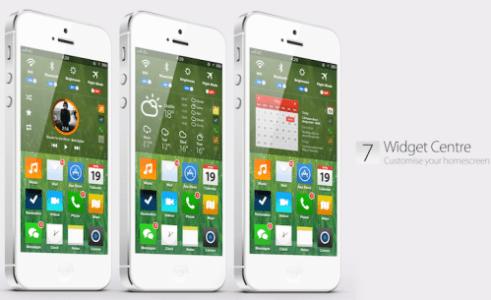 iOS7 Widget Centre