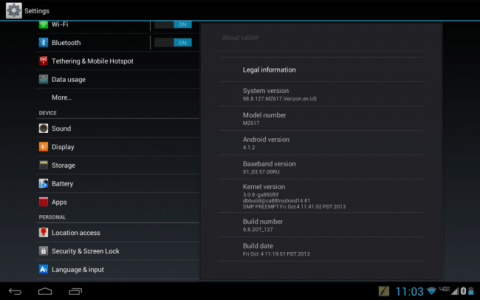 Android 4.1.2 update released for Verizon Motorola DROID XYBOARD