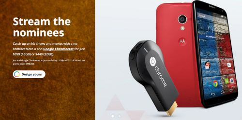 Off Contract Moto X To Come with Free Chromecast