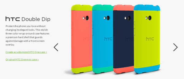 New Customizable HTC One Double Dip Case Version