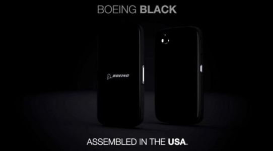 Boeing Black Android Smartphone with High Security and Self-Destruction
