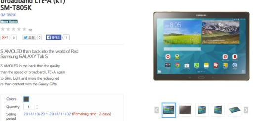 amsung Galaxy Tab S Broadband LTE-A Pre-Ordered in South Korea