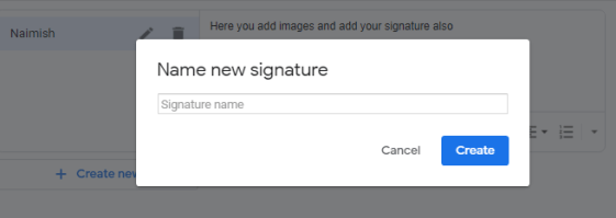 How to add signature on Gmail and name your signature