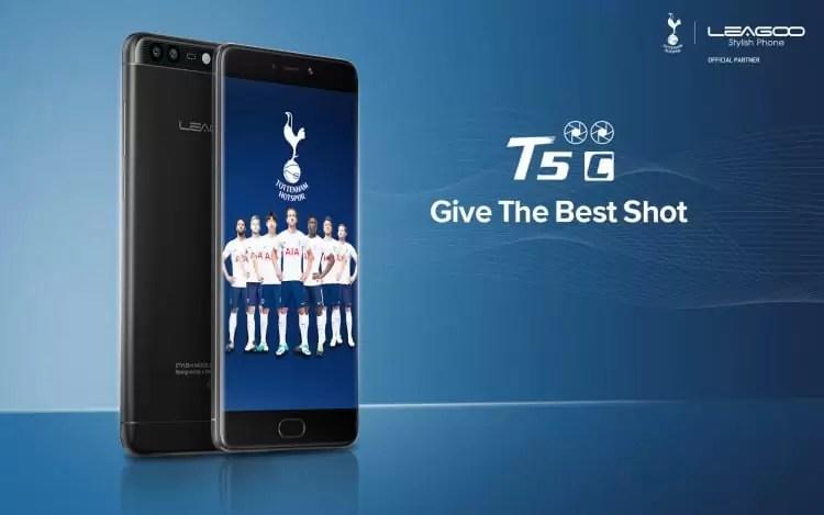 O smartphone mais recente da LEAGOO: LEAGOO T5c