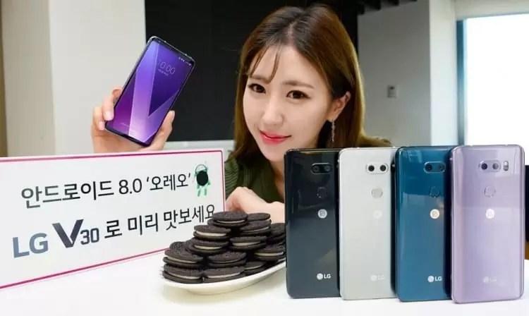 LG V30 Android Oreo