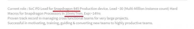 Funcionários da Qualcomm confirmam Snapdragon 840, 845 e 855 nos perfis de LinkedIN 1