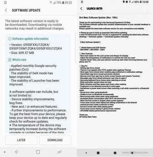Samsung Galaxy S8 Oreo beta recebe actualização image