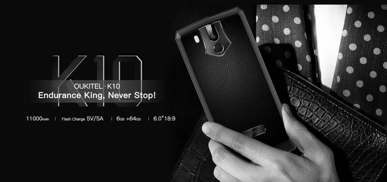 OUKITEL vai lançar um novo smartphone com bateria 11000mAh o Oukitel K10 1