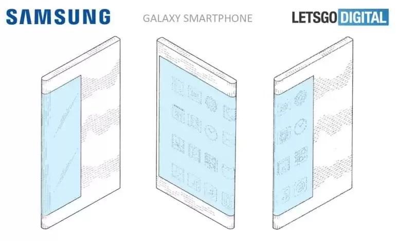 Patente mostra smartphone Samsung Galaxy com display dos dois lados 3