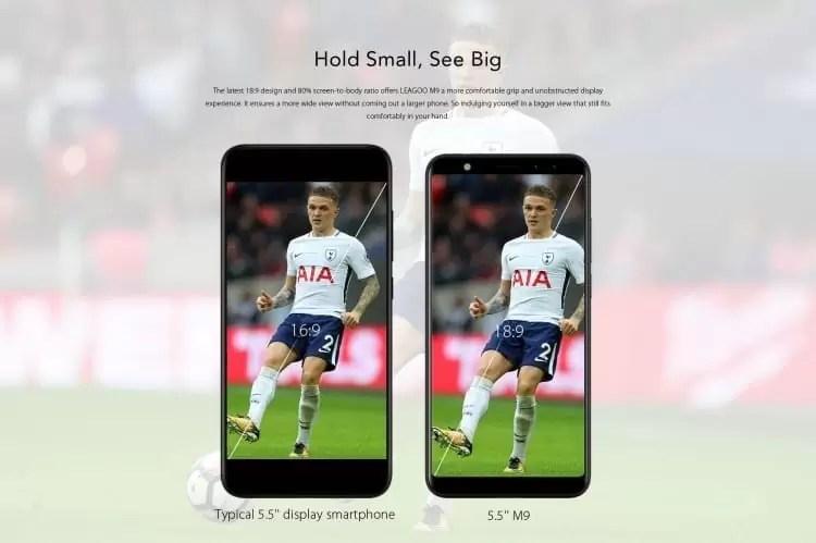 LEAGOO M9 Pré-venda: 20% de desconto na compra do primeiro telefone de orçamento de ecrã inteiro 5