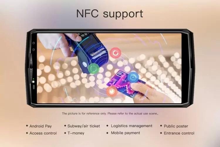 Oukitel K10 com NFC permite inúmeras funções para tornar o dia a dia mais agradável 1