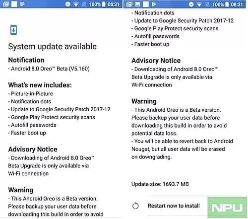 Nova build Nokia 5 Oreo beta 1