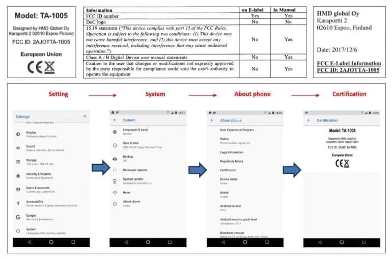 Nokia 9 com 128 GB e Android 8.0 certificado pela FCC 2
