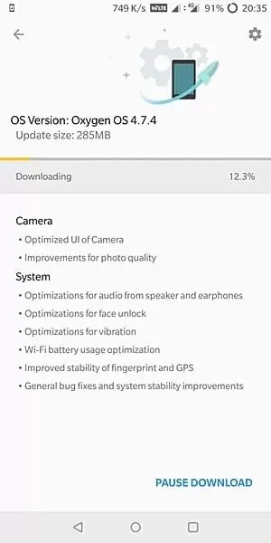 A nova atualização do OnePlus 5T traz otimizações da UI da câmera, melhorias na qualidade da foto 1