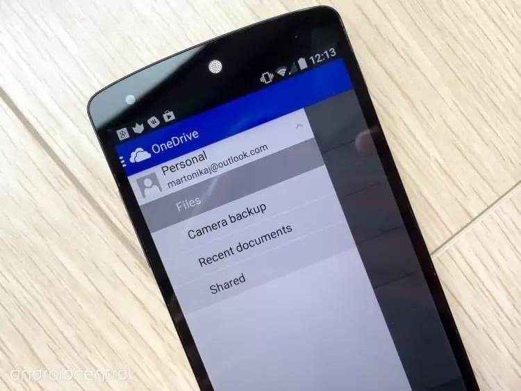 OneDrive atualizado com suporte melhorado Android Oreo 1