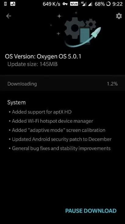 OxygenOS 5.0.1 chega aos Oneplus 3 e 3T 1
