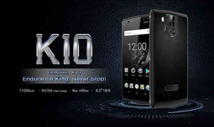 OUKITEL K10 em teste de consumo de energia da sua bateria de 11000mAh 1