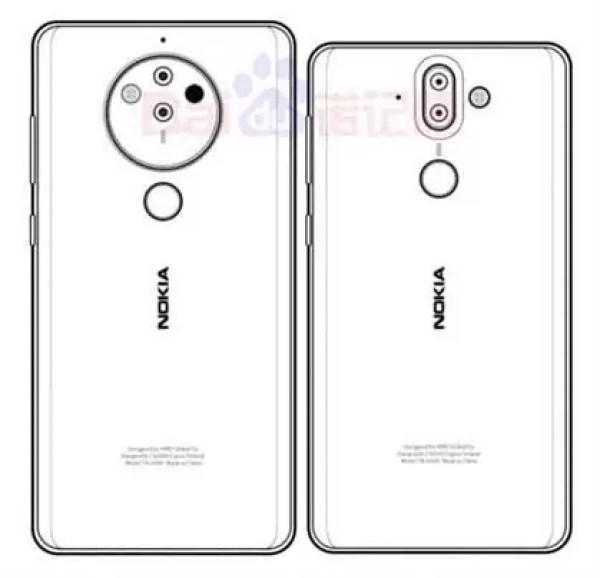 Outro esboço do Nokia 10 sugere a configuração penta-camera 3