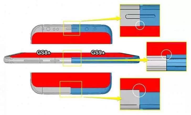 Esquemas CAD revelam as minúsculas alterações de design para o Galaxy S9 2