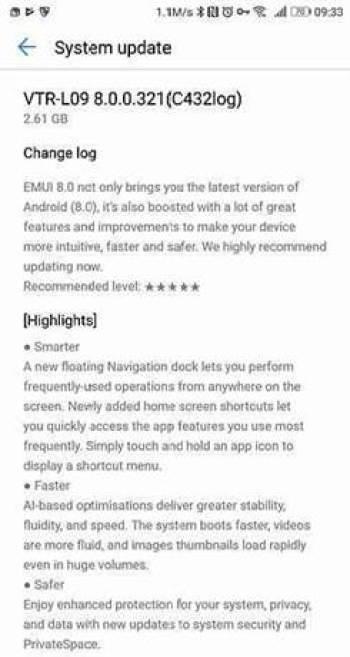 O log de mudanças da Build Oreo Beta do Huawei P10 revela alterações interessantes 1