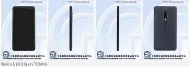 Especificações Nokia 6 (2018) reveladas pela TENAA - Snapdragon 630 e ecrã 16: 9 confirmados 1