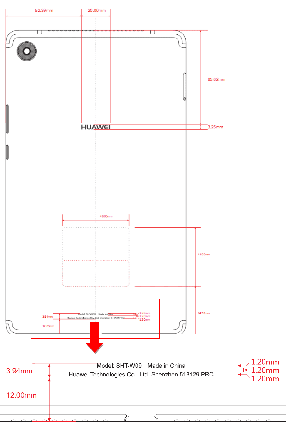 Huawei vai apresentar um Huawei Mediapad M5 com bateria de 4980 mAh (vejam os esboços do projeto) 3