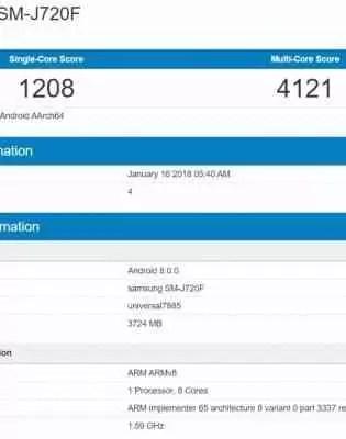 Possível Samsung Galaxy J8 (2018) detectado em listagens de benchmark 1