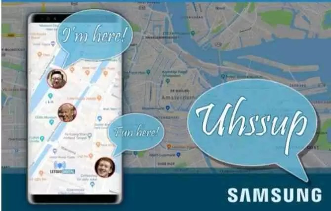 Samsung vai lançar Uhssup aplicativo para partilhar localização em tempo real 1