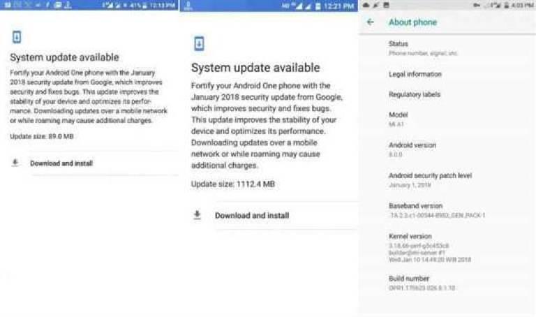Xiaomi volta a disponibilizar o Android Oreo para o Xiaomi Mi A1 1