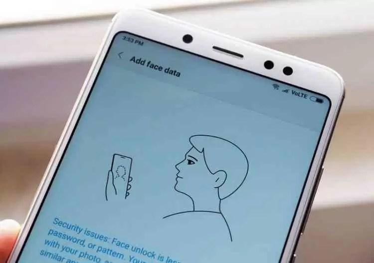 Como configurar o Face Unlock no Xiaomi Redmi Note 5 Pro 1
