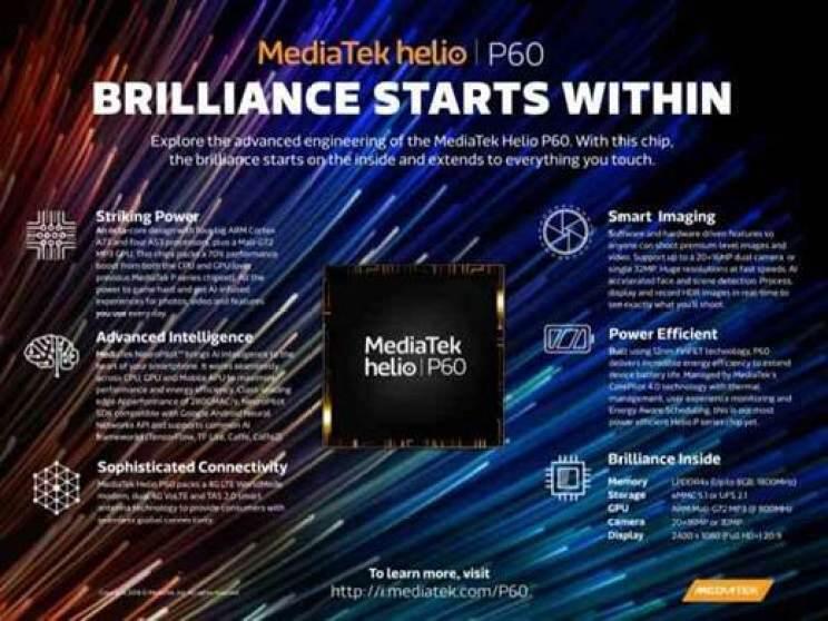 MediaTek Helio P60 é oficial: focado em IA e desempenho 1