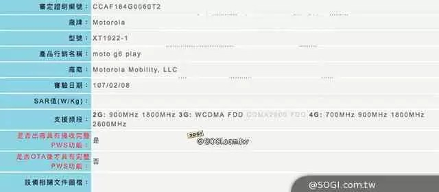 Moto G6 Play recebe indispensável certificação 2