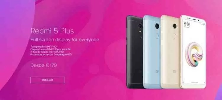 Xiaomi lança oficialmente os Redmi 5 e Redmi 5 Plus em Espanha 1