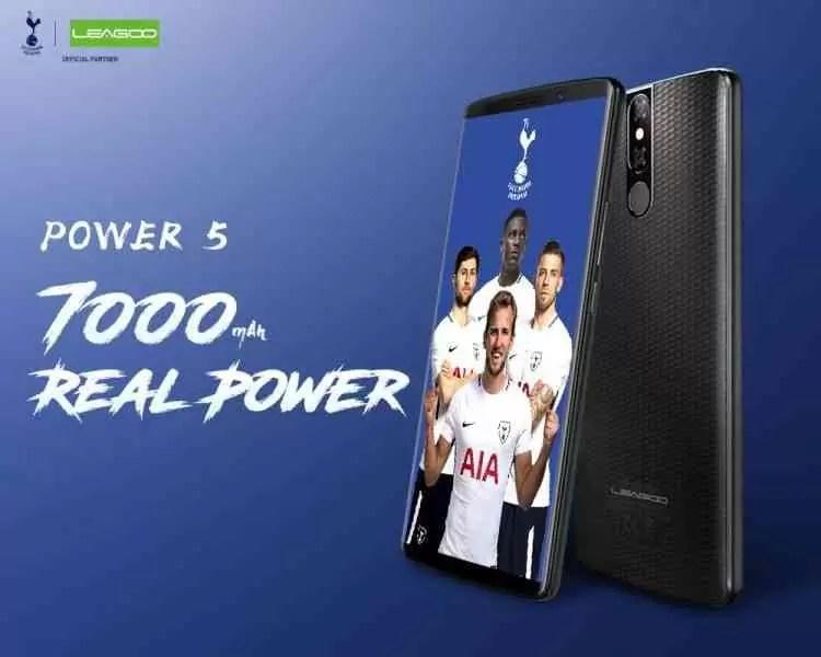 LEAGOO POWER 5 é o telefone de topo da marca com 7000mAh, 6GB de RAM ecrã 18:9 e mais 1